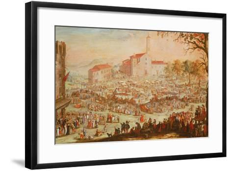 The Fair at Impruneta, 1638-Jacques Callot-Framed Art Print