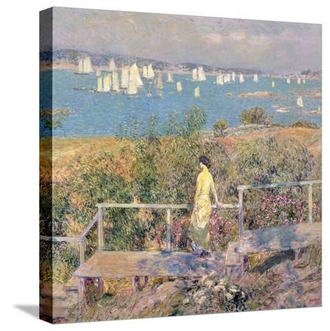 Yachts, Gloucester, 1889-Childe Hassam-Stretched Canvas Print