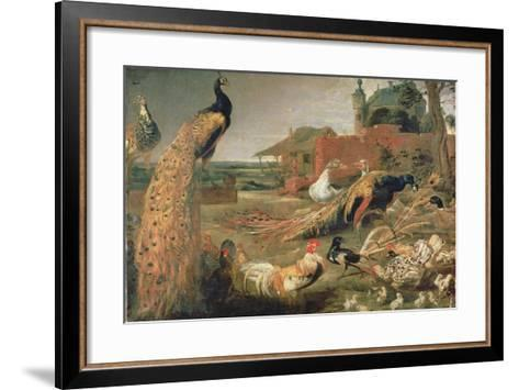 A Crow in Peacock's Feathers-Paul de Vos-Framed Art Print