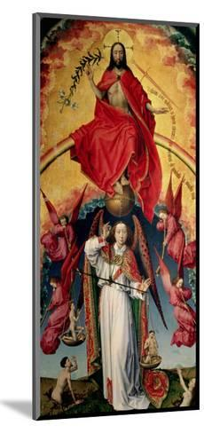 St. Michael Weighing the Souls, from the Last Judgement, C.1445-50-Rogier van der Weyden-Mounted Giclee Print