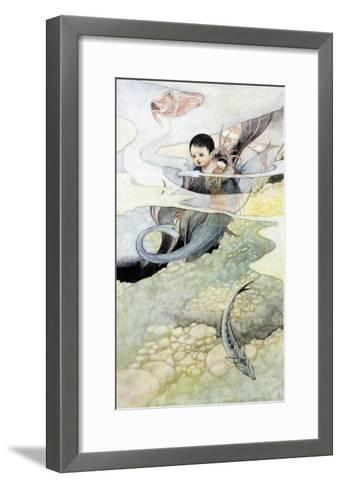 The Mer-Baby-Charles Robinson-Framed Art Print
