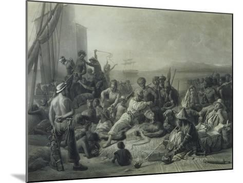 Scene on the Coast of Africa, Engraved by Wagstaff, London, 1844-Francois Auguste Biard-Mounted Giclee Print