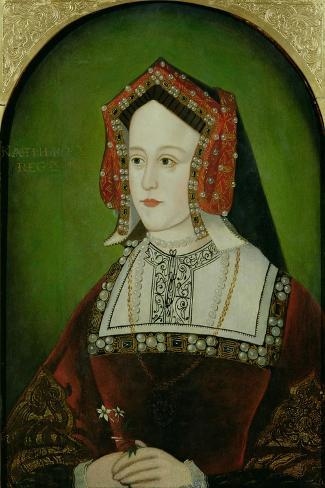 Portrait of Catherine of Aragon (1485-1536)--Stretched Canvas Print