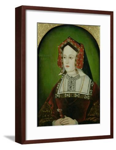 Portrait of Catherine of Aragon (1485-1536)--Framed Art Print