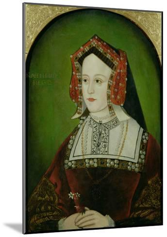 Portrait of Catherine of Aragon (1485-1536)--Mounted Giclee Print