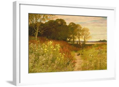 Landscape with Wild Flowers and Rabbits-Robert Collinson-Framed Art Print