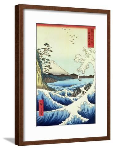 View from Satta Suruga Province-Ando Hiroshige-Framed Art Print