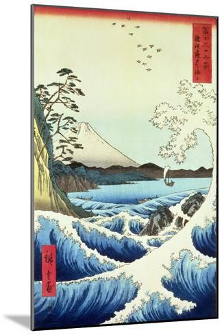 View from Satta Suruga Province-Ando Hiroshige-Mounted Giclee Print