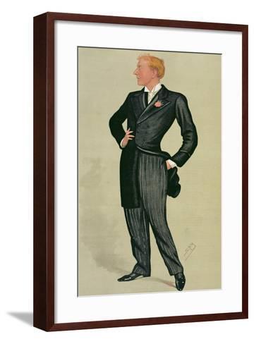 Mr Herbert Beerbohm Tree (1852-1917), a 'spy' Cartoon from Vanity Fair, 12th July 1890-Sir Leslie Ward-Framed Art Print