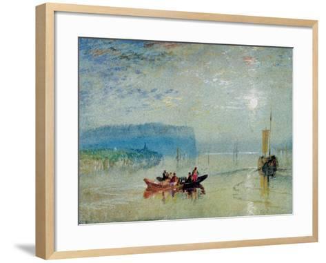 Scene on the Loire, Near the Coteaux De Mauves, C.1830-J^ M^ W^ Turner-Framed Art Print