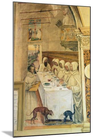 St. Benedict Finds Flour and Feeds the Monks, from the Life of St. Benedict, 1497-98- L. Signorelli and G. Sodoma-Mounted Giclee Print