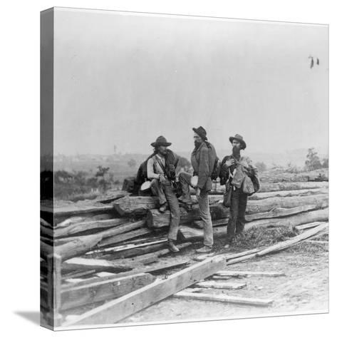 Three Confederate Prisoners, Gettysburg, Pennsylvania--Stretched Canvas Print