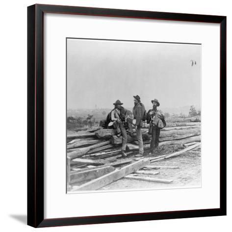 Three Confederate Prisoners, Gettysburg, Pennsylvania--Framed Art Print