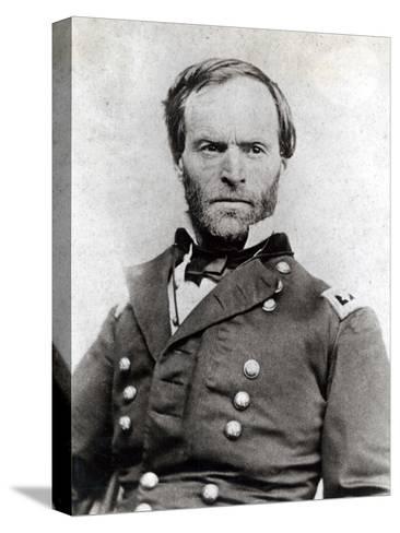 General William Tecumseh Sherman (1820-91)--Stretched Canvas Print