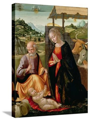 The Nativity (Post Cleaning)-Domenico Ghirlandaio-Stretched Canvas Print