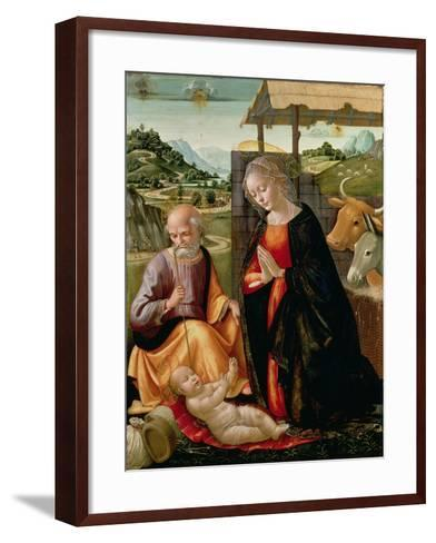 The Nativity (Post Cleaning)-Domenico Ghirlandaio-Framed Art Print