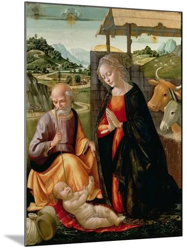 The Nativity (Post Cleaning)-Domenico Ghirlandaio-Mounted Giclee Print