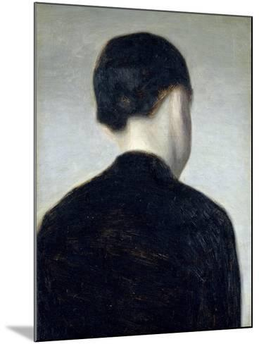 Seated Figure, Seen from Behind (Anna Hammershoi) 1884-Vilhelm Hammershoi-Mounted Giclee Print