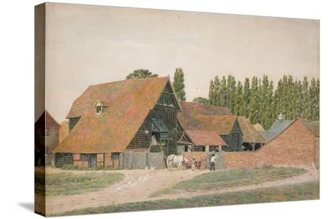 Farm Buildings, Dorchester, Oxfordshire-George Price Boyce-Stretched Canvas Print