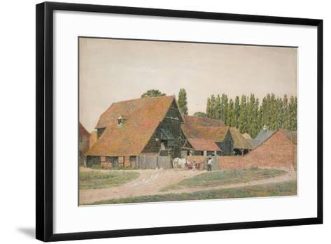 Farm Buildings, Dorchester, Oxfordshire-George Price Boyce-Framed Art Print