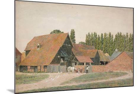 Farm Buildings, Dorchester, Oxfordshire-George Price Boyce-Mounted Giclee Print