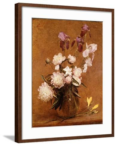 Bouquet of Peonies and Irises, 1883-Henri Fantin-Latour-Framed Art Print