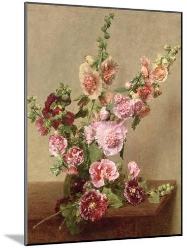 Hollyhocks, 1889-Henri Fantin-Latour-Mounted Giclee Print