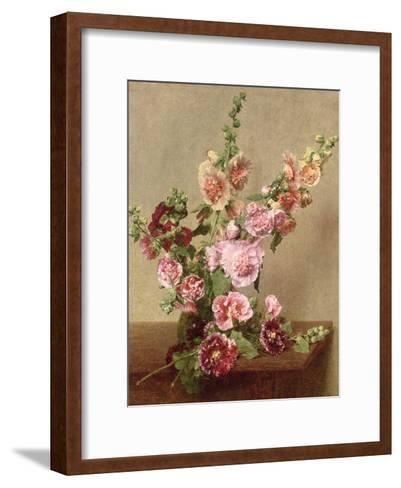 Hollyhocks, 1889-Henri Fantin-Latour-Framed Art Print
