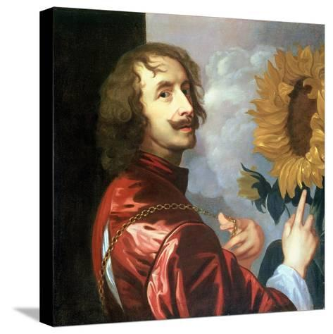 Self Portrait with a Sunflower, after 1632-Sir Anthony Van Dyck-Stretched Canvas Print