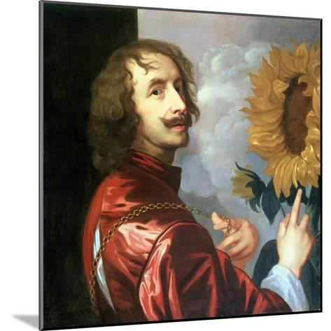 Self Portrait with a Sunflower, after 1632-Sir Anthony Van Dyck-Mounted Giclee Print