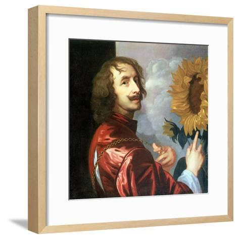 Self Portrait with a Sunflower, after 1632-Sir Anthony Van Dyck-Framed Art Print