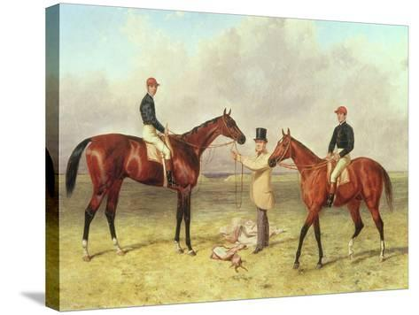 """Lord Lyon"", Winner of the Derby, St. Leger and 2,000 Guineas; ""Elland"", Winner of Ascot Gold?-Harry Hall-Stretched Canvas Print"