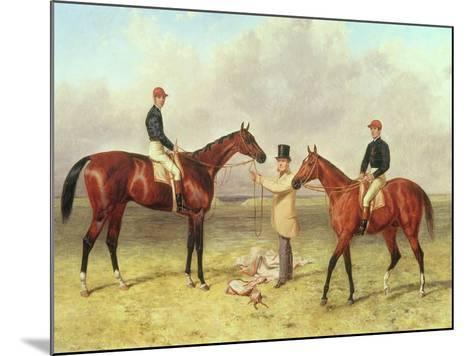 """Lord Lyon"", Winner of the Derby, St. Leger and 2,000 Guineas; ""Elland"", Winner of Ascot Gold?-Harry Hall-Mounted Giclee Print"
