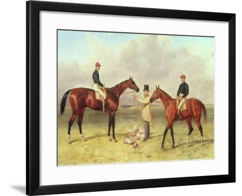 """Lord Lyon"", Winner of the Derby, St. Leger and 2,000 Guineas; ""Elland"", Winner of Ascot Gold?-Harry Hall-Framed Art Print"