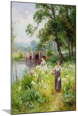 Picking Flowers by the River-Ernest Walbourn-Mounted Giclee Print