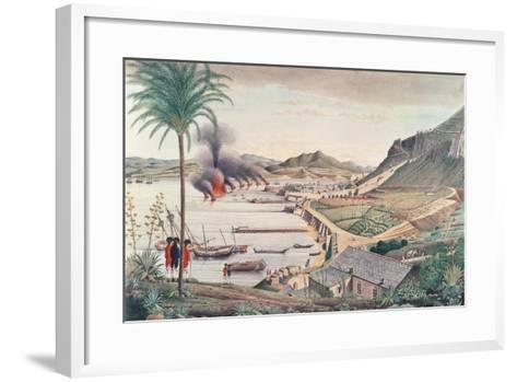 Gibraltar on the Morning after the Great Franco-Spanish Attack, 1783-Thomas Davies-Framed Art Print