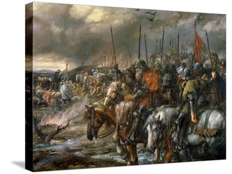 Morning of the Battle of Agincourt, 25th October 1415, 1884-Sir John Gilbert-Stretched Canvas Print