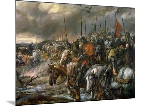 Morning of the Battle of Agincourt, 25th October 1415, 1884-Sir John Gilbert-Mounted Giclee Print