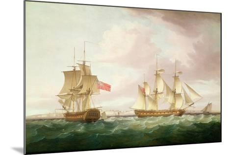 British Frigates Off Dover-Thomas Whitcombe-Mounted Giclee Print