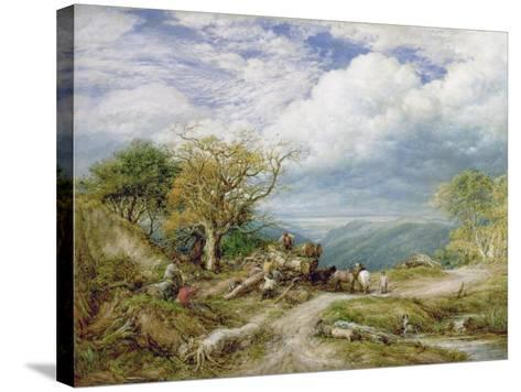 The Timber Waggon, 1872-John Linnell-Stretched Canvas Print