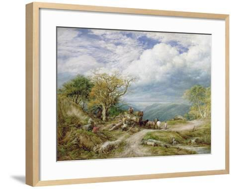 The Timber Waggon, 1872-John Linnell-Framed Art Print