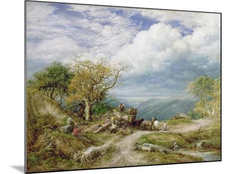 The Timber Waggon, 1872-John Linnell-Mounted Giclee Print