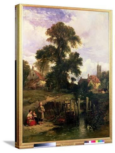 Gillingham on the Medway, 1841-William James Muller-Stretched Canvas Print