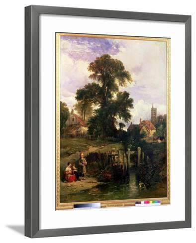 Gillingham on the Medway, 1841-William James Muller-Framed Art Print
