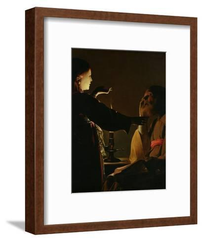'The Appearance of the Angel to St. Joseph', also known as 'The Dream of St. Joseph', 1652-Georges de La Tour-Framed Art Print