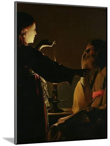 'The Appearance of the Angel to St. Joseph', also known as 'The Dream of St. Joseph', 1652-Georges de La Tour-Mounted Giclee Print