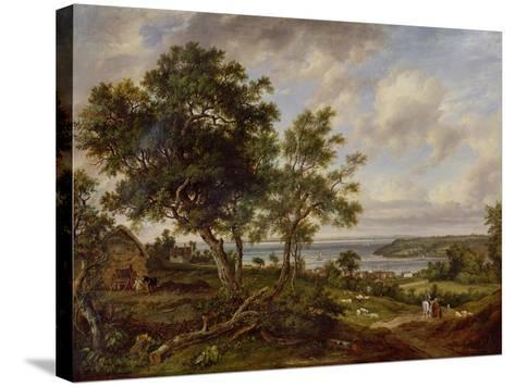 Meeting of the Avon and the Severn, 1826-Patrick Nasmyth-Stretched Canvas Print