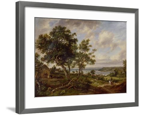 Meeting of the Avon and the Severn, 1826-Patrick Nasmyth-Framed Art Print