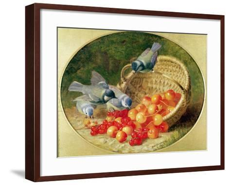 Bluetits Pecking at Cherries, 1897-Eloise Harriet Stannard-Framed Art Print
