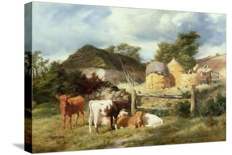 A Highland Croft, 1873-Peter Graham-Stretched Canvas Print